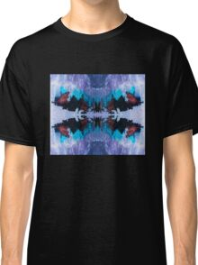 Eye catching abstract ink pattern design in purple blue and copper color Classic T-Shirt