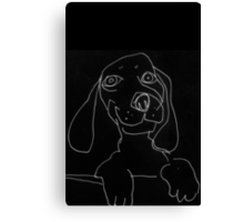 happy doxie Canvas Print
