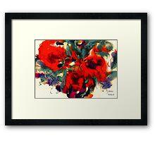 Red Flower Power Framed Print