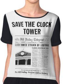 Save the clock tower Chiffon Top