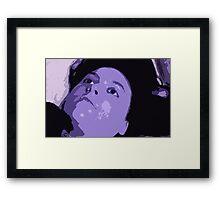 The Blue Mistress Framed Print