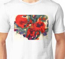 Red Flower Power Unisex T-Shirt