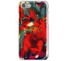 Red Flower Power iPhone Case/Skin