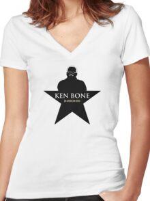 Ken Bone - Hamilton Logo Women's Fitted V-Neck T-Shirt