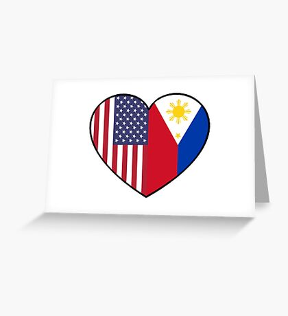 USA & Philippines Greeting Card