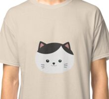 Cat with white fur and black hair Classic T-Shirt