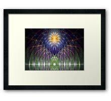 Alien altar Framed Print