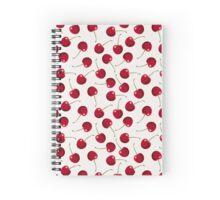 Tasty Red Cherries Pattern Spiral Notebook
