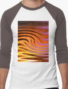 Flame and Fire Vector - Colorful Background Men's Baseball ¾ T-Shirt