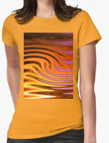 Flame and Fire Vector - Colorful Background Womens Fitted T-Shirt