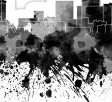 Genoa skyline in black watercolor Sticker