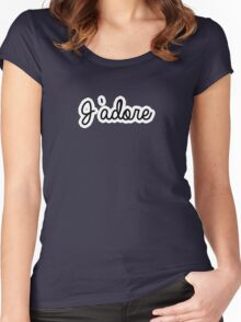 J'adore   French Women's Fitted Scoop T-Shirt