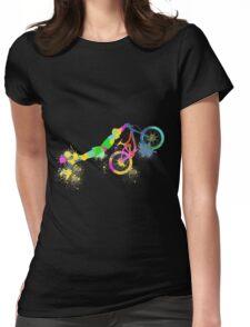 Festive bike Womens Fitted T-Shirt