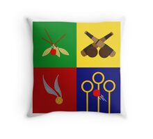 Quidditch Positions Throw Pillow