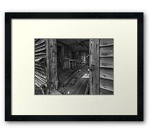 Screen Door Closer - BW Framed Print