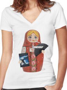Katya Zamolodchikova Russian Doll Women's Fitted V-Neck T-Shirt