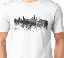 Gold Coast skyline in black watercolor Unisex T-Shirt