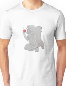 The Inducement Angel with Red Apple (Original Art Drawing by Alice Iordache) Unisex T-Shirt