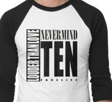 Nevermind Ten Facelift Louder than the Sound Grunge albums White version Men's Baseball ¾ T-Shirt