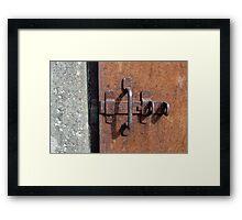 iron door with deadbolt Framed Print