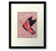 Resilient Wings Framed Print