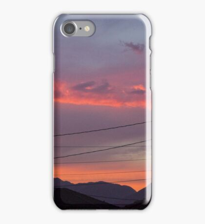 Sunset w/Wires iPhone Case/Skin