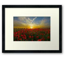 Drops of Love at Dawn Framed Print