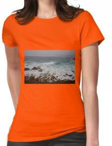 Unsettled Waters at Sennen Cove Womens Fitted T-Shirt