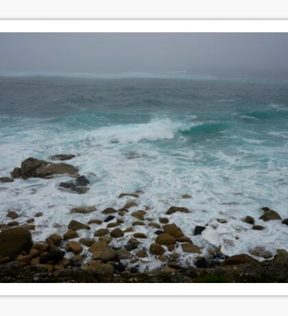 Unsettled Waters at Sennen Cove Sticker
