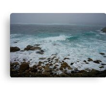 Unsettled Waters at Sennen Cove Canvas Print