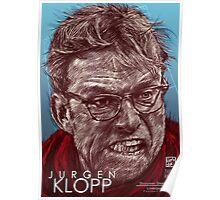 Jurgen Klopp - Liverpool FC - Hand Drawn Portrait Poster