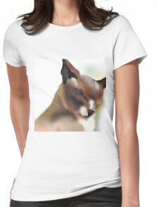 Content cat Womens Fitted T-Shirt