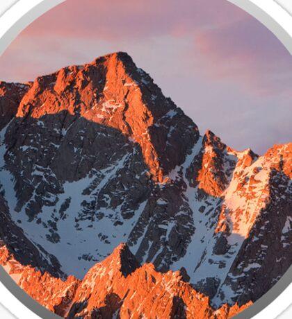 MacOS Logo Mountains Apple Sticker