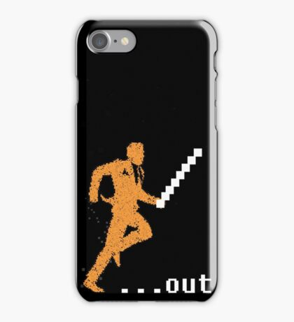 out of office end of message iPhone Case/Skin