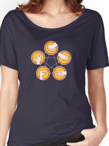 Rock Paper Scissors Lizard Spock - Yellow Variant Women's Relaxed Fit T-Shirt