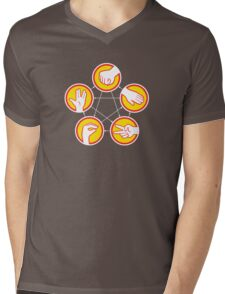 Rock Paper Scissors Lizard Spock - Yellow Variant Mens V-Neck T-Shirt
