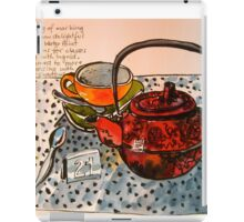 an empty cup iPad Case/Skin