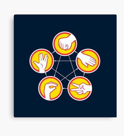 Rock Paper Scissors Lizard Spock - Yellow Variant Canvas Print