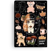 Crybaby autumn - black - Canvas Print