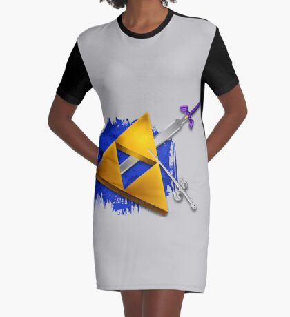 Legend of Zelda Items Graphic T-Shirt Dress