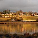 Dry Stoke village across Eyebrook water by almaalice