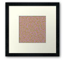 Pink Garden texture Framed Print