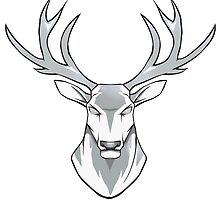 Stag head white by trenzy