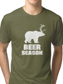 Beer Season - Bear + Deer = Beer Tri-blend T-Shirt