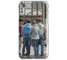 Canterbury - Tourists Queuing  iPhone Case/Skin