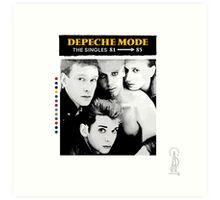 Depeche Mode : Single 81-85 - Paint B&W - With name Art Print