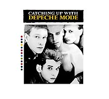Depeche Mode : Catching Up With ... - Paint B&W - With name Photographic Print