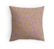 Pink Garden texture Throw Pillow