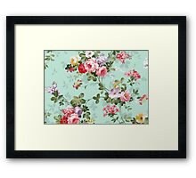 Vintage flower garden texture  Framed Print