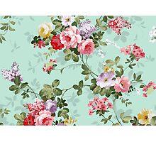 Vintage flower garden texture  Photographic Print